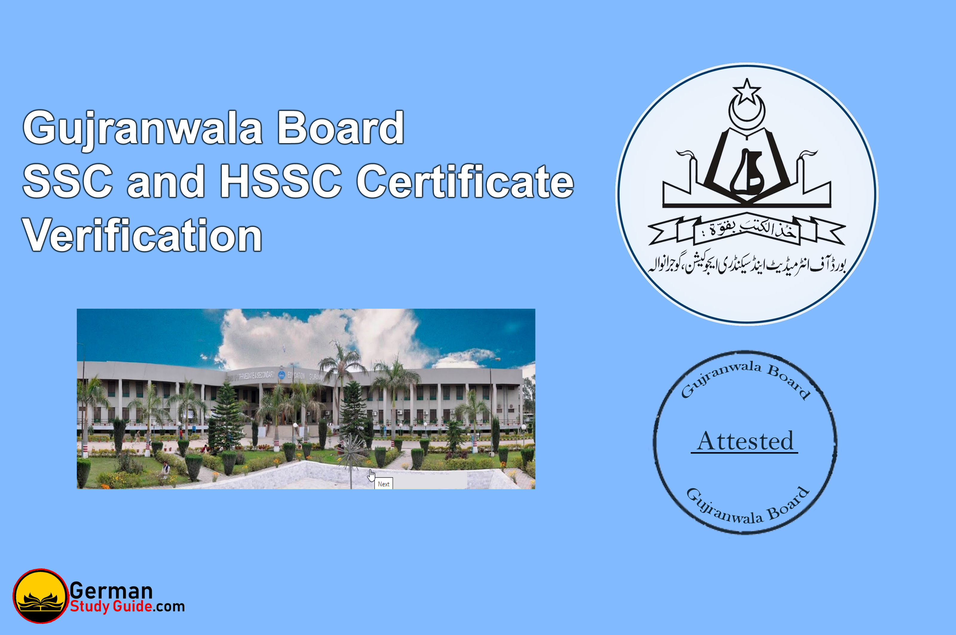 Gujranwala Board SSC and HSSC certificate verification