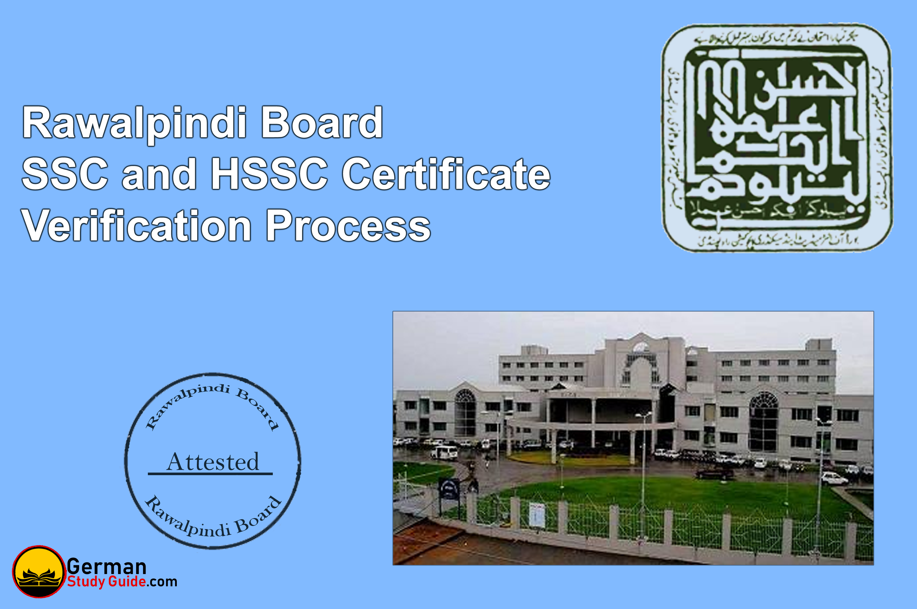 Rawalpindi Board SSC and HSSC certificate verification process