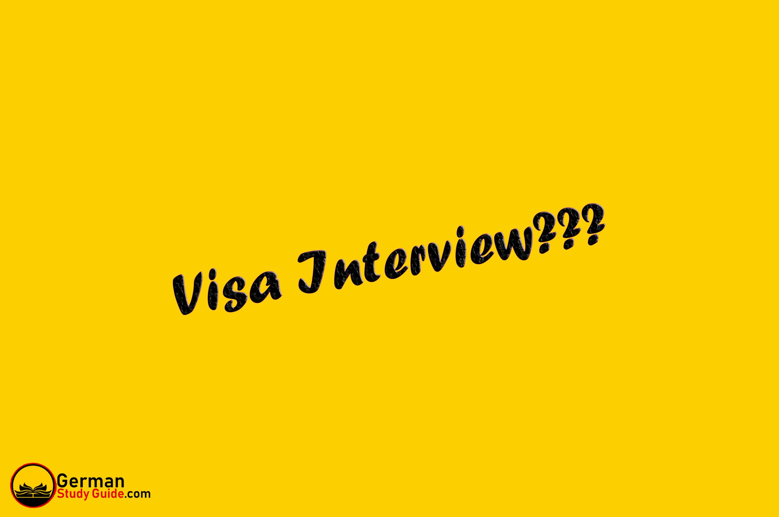 Top 20   German Student Visa Interview Questions & Answers ...