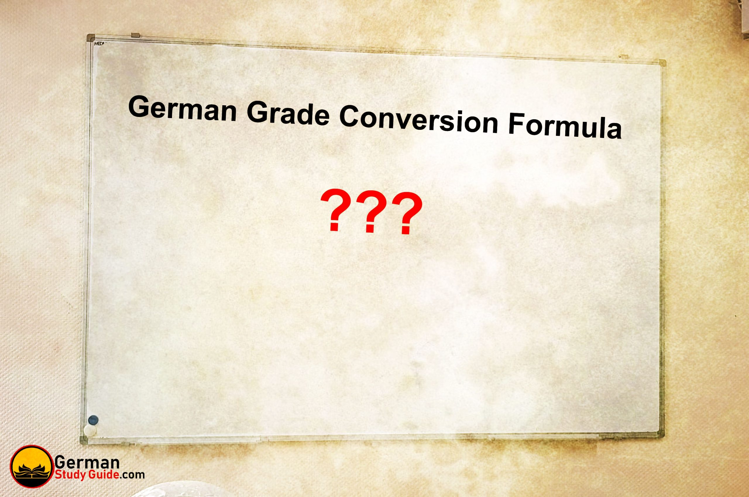 German Grade Conversion Formula