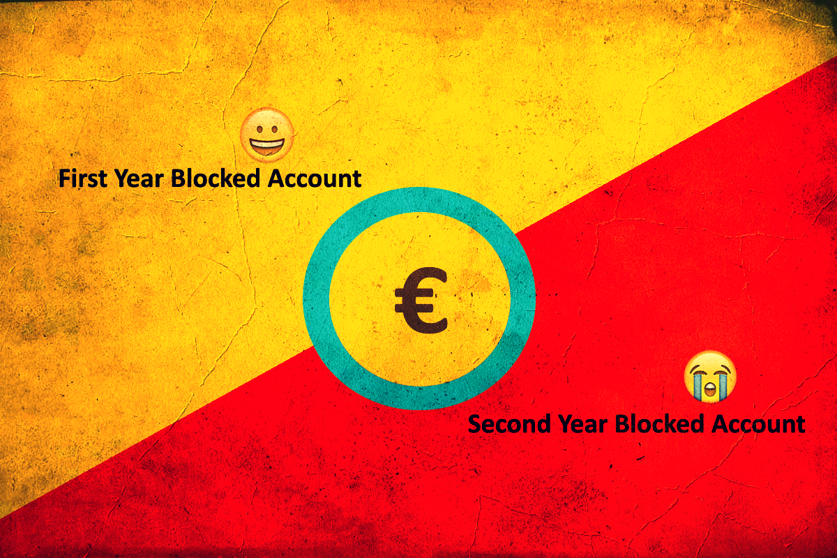 Do I need to show money for a second-year blocked account?